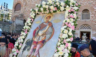 H Λιτανεία του Αγίου Δημητρίου στη Θεσσαλονίκη ΕΙΚΟΝΕΣ