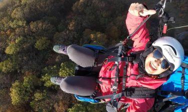 Άλκηστις Πρωτοψάλτη: Ριψοκίνδυνη πτήση στις Άλπεις
