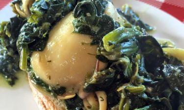 Αγιορείτικες σουπιές με σπανάκι- Τέλεια συνταγή από τον Γιώργο Τσούλη