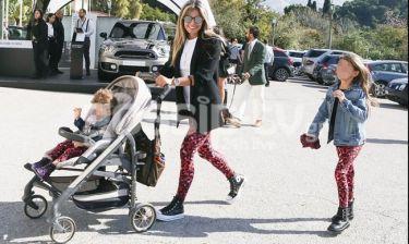 Κατερίνα Λάσπα: Βόλτα με τα παιδιά της! Όλες τους στιλάτες!