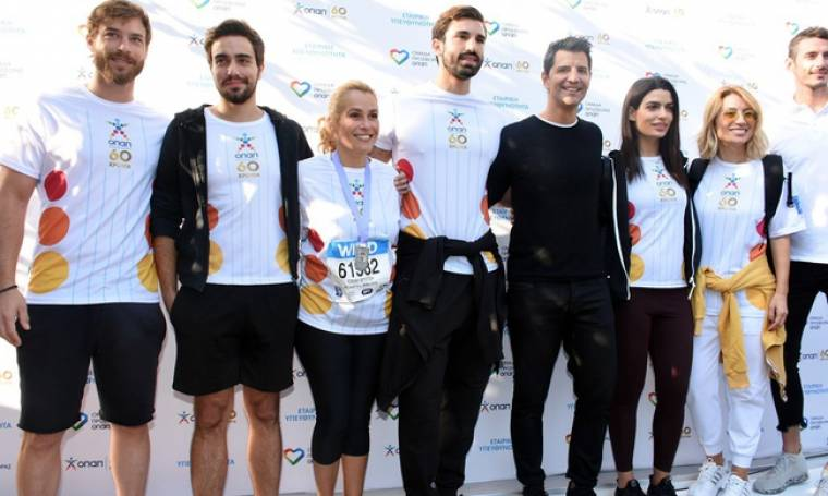 Οι «επώνυμοι» της σόουμπιζ έτρεξαν για καλό σκοπό στον  36ο Αυθεντικό Μαραθώνιο της Αθήνας