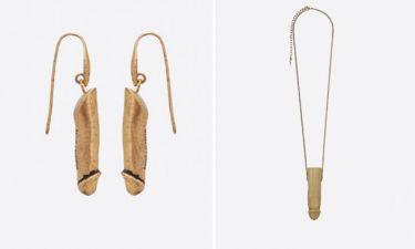 Yves Saint Laurent: Κυκλοφόρησε σκουλαρίκια και ασορτί κολιέ σε σχήμα φαλλού