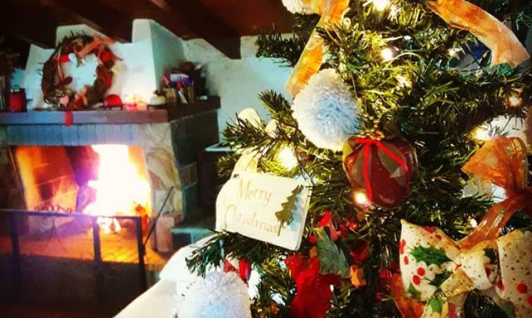 Ελληνίδα παρουσιάστρια στόλισε το Χριστουγεννιάτικο δέντρο της