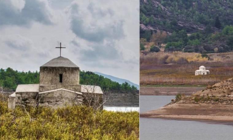 «Αναδύθηκε» εκκλησάκι της Παναγίας μέσα από το νερό στη Ρόδο