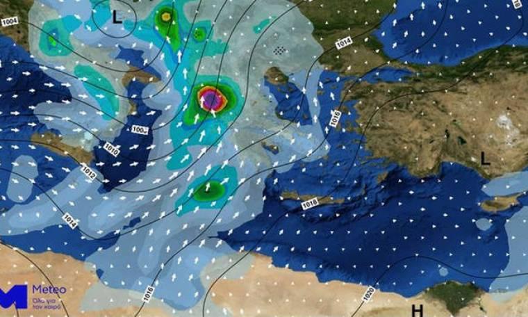 Καιρός: Προσοχή τις επόμενες ώρες - Η «Πηνελόπη» θα σαρώσει τη χώρα με καταιγίδες, χαλάζι και χιόνια