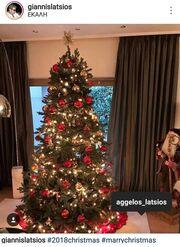 Γιάννης Λάτσιος: Στόλισε το Χριστουγεννιάτικο δέντρο με τον γιο του, Άγγελο