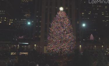 Η εντυπωσιακή φωταγώγηση του δέντρου του Rockefeller Center στη Νέα Υόρκη