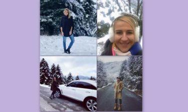 Επώνυμες Ελληνίδες ποζάρουν με φόντο το... χιόνι (Photos)