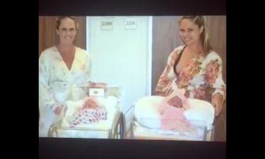 Απίστευτο: Δύο αδελφές γέννησαν με διαφορά δεκαπέντε λεπτών! (vid)