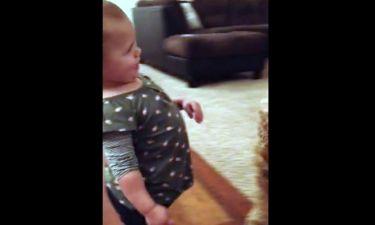 Απίστευτη η μικρούλα! Μιμείται πώς περπατάει η έγκυος μητέρα της!