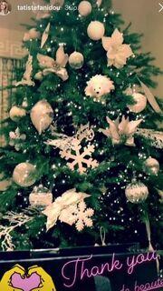 Τατιάνα Στεφανίδου: Δείτε το χριστουγεννιάτικο δέντρο της