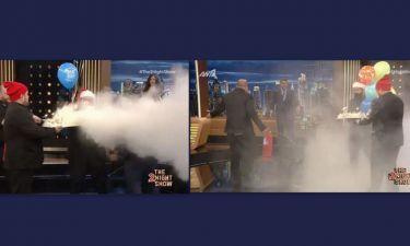 The 2Night Show: Γενέθλια για τον Γρηγόρη! Μπήκαν με πυροσβεστήρα στο πλατό - Άφωνος ο παρουσιαστής
