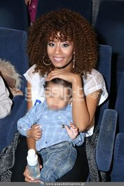 Σάγια: Με τον γιο της στο θέατρο!