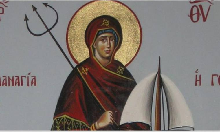 Η σπάνια εικόνα της Παναγίας της γοργόνας