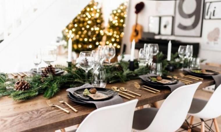 10 εκπληκτικές ιδέες για να διακοσμήσεις το χριστουγεννιάτικο τραπέζι