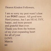Μάρσια Κρος: Η «νοικοκυρά σε απόγνωση» αποκάλυψε ότι δίνει μάχη με τον καρκίνο
