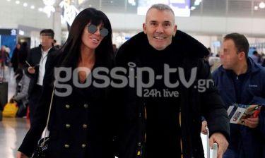 Στέλιος Ρόκκος - Έλενα Γκόφα: Στο αεροδρόμιο το ερωτευμένο ζευγάρι!