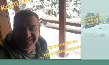 Και ο Γιώργος Λιάγκας αποκλείστηκε στον Παρνασσό από τα χιόνια