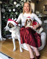 Τατιάνα Στεφανίδου: Η διαφορετική πόζα μπροστά από το χριστουγεννιάτικο δέντρο