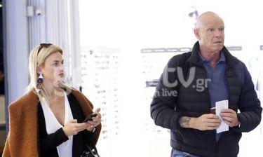 Χριστίνα Κοντοβά - Τζώνυ Καλημέρης: Τους εντοπίσαμε στο αεροδρόμιο!