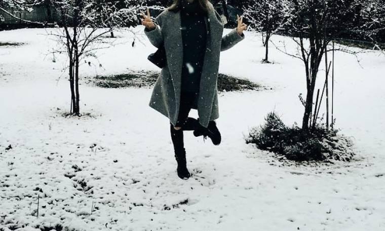Ελληνίδα ηθοποιός ποζάρει στα χιόνια!
