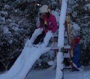 Ελένη Μενεγάκη: Το χιονισμένο τοπίο από το σπίτι της στα Μελίσσια (φωτό)