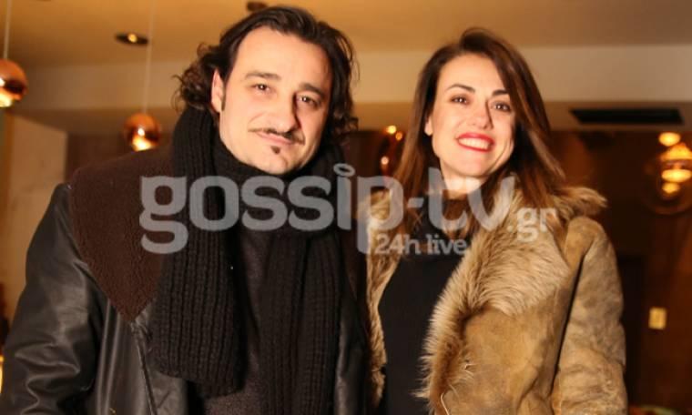 Βασίλης Χαραλαμπόπουλος: Βραδινή έξοδος με τη γυναίκα του!
