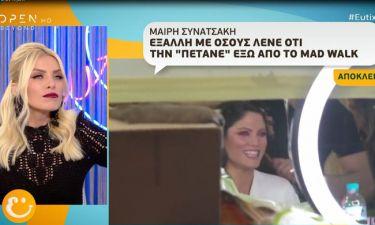 Μαίρη Συνατσάκη: Απαντά για την αντικατάστασή της από την Ηλιάνα Παπαγεωργίου στα MadWalk