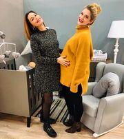 Τζένη Θεωνά - Κατερίνα Παπουτσάκη: Ποζάρουν με τις φουσκωμένους τους κοιλίτσες!