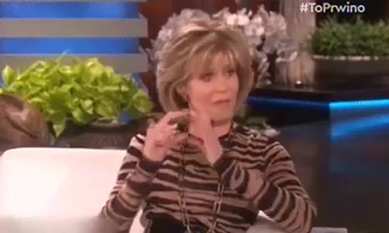 Η Jane Fonda «έσπασε» τα μηχανάκια της τηλεθέασης