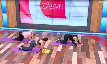 Κορίτσια αποκτήσετε τους κοιλιακούς και τους γλουτούς της Ελένης – Κάντε γυμναστική μαζί της!