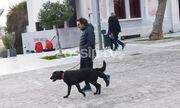 Βασίλης Χαραλαμπόπουλος: Βόλτα με τον αγαπημένο του σκύλο