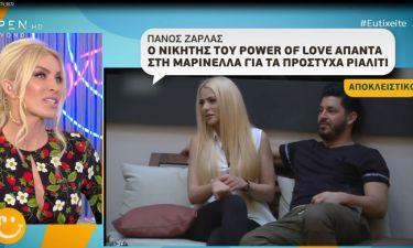 Πάνος Ζάρλας: Δείτε τι απαντά ο νικητής του Power of Love στην Μαρινέλλα μετά το ξέσπασμα της!