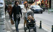 Οικονομάκου-Μιχόπουλος: Σπάνια εμφάνιση με τον γιο τους