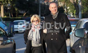 Μαρία Μπεκατώρου - Αντώνης Αλεβιζόπουλος: Ντυμένοι στα μαύρα αλλά πάντα με το χαμόγελο στα χείλη