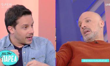 Δημήτρης Μακαλιάς σε Νίκο Μουτσινά: «Εξαιτίας σου δεν έχω δουλειά...» - Η αντίδραση του παρουσιαστή