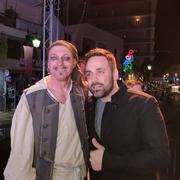 Ο Γιώργος Γιαννιάς και η Ειρήνη Κολιδά στο Καρναβάλι του Λουτρακίου