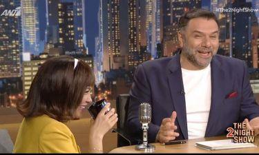 «The 2Night Show»: Σε αμηχανία η Πηνελόπη Πλάκα όταν ο Γρηγόρης αναφέρθηκε στα προσωπικά της