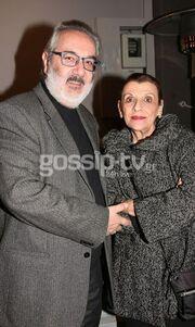 Ο Θάνος Καληώρας με τη σύζυγό του σε σπάνια κοινή εμφάνιση.