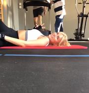 Η Κατερίνα Καινούργιου «λιώνει» στο γυμναστήριο