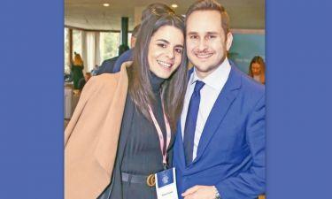 Ολοταχώς στην εκκλησία! Ο Μάριος Γεωργιάδης και η σύντροφός του Ρία Τσούµα παντρεύονται