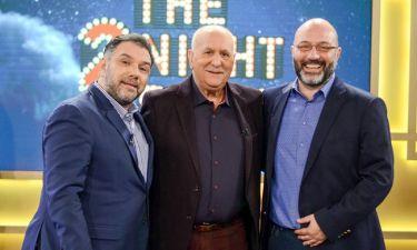 The 2Night Show: Ο Γρηγόρης υποδέχεται τον αδερφό του, Σάκη και τον Γιώργο Παπαδάκη