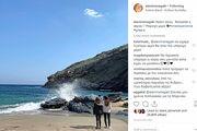 Ελένη Μενεγάκη: Τριήμερο στην Άνδρο – Η φωτογραφία με τις κόρες της στο Instagram