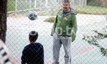 Γιώργος Λιάγκας: Πασούλες με τον γιο του Γιάννη