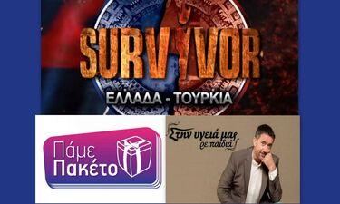 Τηλεθέαση: Survivor – Στην υγειά μας ρε παιδιά – Πάμε πακέτο: And the winner is…