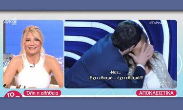 Αλέξης Γεωργούλης: Καρέ καρέ το παθιασμένο φιλί του ηθοποιού - Άφωνοι στο Πρωινό