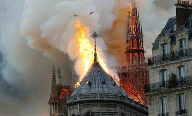Καίγεται η Παναγία των Παρισίων και οι εικόνες σοκάρουν! (vid)