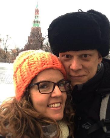 Με τη σύζυγό του Χαρούλα σε ταξίδι τους στη Μόσχα