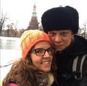 Με τη σύζυγό του στη Μόσχα
