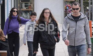 Η Ναταλία Δραγούμη με τον σύζυγο και τα παιδιά της στην Κηφισιά - Η κόρη της κοντεύει να την περάσει